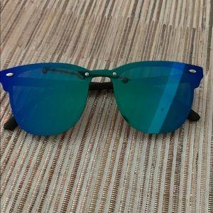 Anthropologie Mirrored Rainbow Sunglasses Square